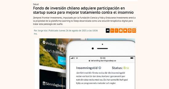 Fondo de inversión chileno adquiere participación en startup sueca para mejorar tratamiento contra el insomnio
