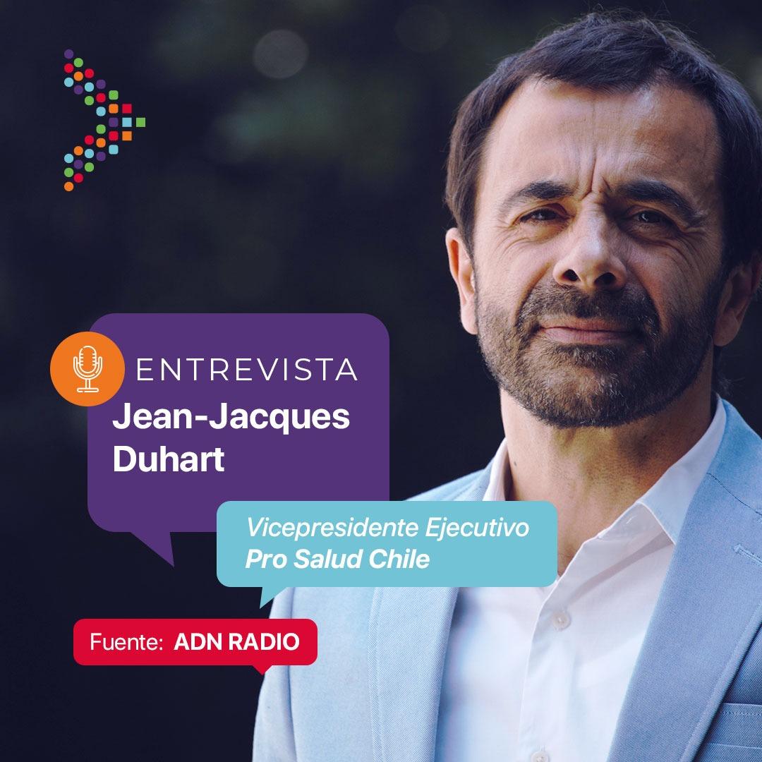 Entrevista a Jean-Jacques Duhart en radio ADN sobre la implementación de la receta electrónica MINSAL